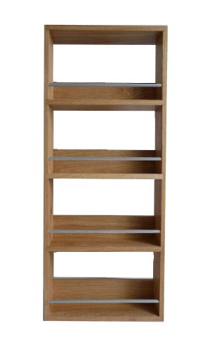 Buy Solid Oak Spice Rack Four Tier Up To 20 Jar Capacity - Display Herbs, Spices, Nail Varnish, collectibles, etc from Amazon