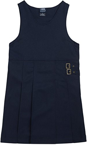 French Toast School Uniforms Twin Buckle Tab Jumper Girls Navy 7 front-923896