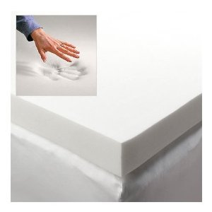 Visco Ultimate Queen 4 Inch Thick, 2.5 Pound Density Visco Elastic Memory Foam Mattress Bed Topper