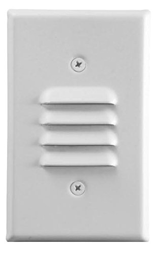 Sunco Lighting LED Mini Outdoor and Indoor Step/Stair Light with Both Vertical and Horizontal Louvered Wall Plates Included, White.