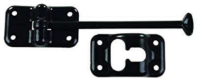 "JR Products 10434 6"" T-style Black Door Holder"