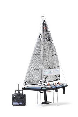 Kyosho Fortune 612 II 2.4Ghz Ready-To-Sail RC Sailboat w/Black Hull