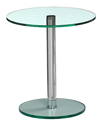 Lourens Fisher Circle 40, tavolino glass-stainless in acciaio, vetro, acciaio INOX