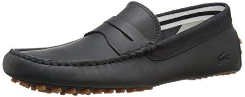 Lacoste Men's Concours 216 1 Slip-On Loafer, Black, 9 M US