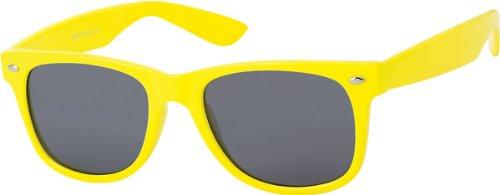 Unisex Sonnenbrille gelb / schwarz retro Herren Damen Art.Nr. 8044-3X