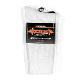 Extra Wide Athletic Crew Sock 6100 - Buy Extra Wide Athletic Crew Sock 6100 - Purchase Extra Wide Athletic Crew Sock 6100 (Extra Wide Sock Company, Extra Wide Sock Company Socks, Extra Wide Sock Company Mens Socks, Apparel, Departments, Men, Socks, Mens Socks, Crew, Crew Socks, Mens Crew Socks)
