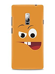 Kawach Case/Back Cover for OnePlus 2 + Free Tempered Glass - Naughty Face Printed Case