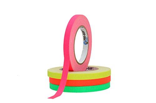 protapes-permacel-rouleaux-de-ruban-adhesif-toile-gaffer-vert-orange-rose-jaune-12-mm-x-228-m