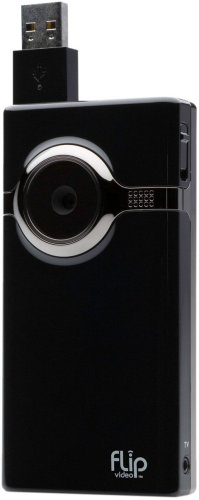 Flip MinoHD Video Camera - Black, 4 GB, 1 Hour (1st Generation)