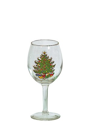 Cuthbertson Original Christmas Tree 11 Oz Wine Goblet, Set of 4 Cuthbertson Christmas Tree