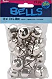 Jingle Bells 1-Inch, 18-Pack, Silver