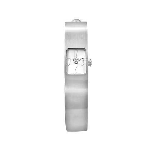 Milus Women's MON011 Monocera Stainless Steel XS White Dial Bangle Watch