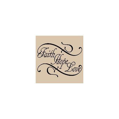 Black Faith hope love Vinyl Wall Art