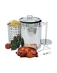 Bayou Classic Fryers 32 Quart Stainless Steel Turkey Fryer With Rack by Bayou Classic