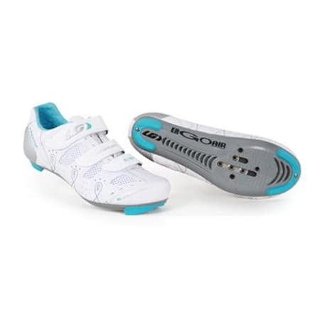 Louis Garneau 2010/11 Women's Air Flora Road Cycling Shoes - White - 1487064-019 (42)