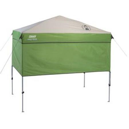Coleman 7' x 5' Staight Leg Instant Canopy Sunwall Shelter, Green , 50+ UPF UVGuard (Coleman Instant Tent 14x12 compare prices)