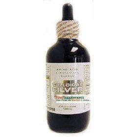 Amino Acid & Botanical Supply Silver Colloidal 1100 ppm Liquid 4 oz. ( Multi-Pack)