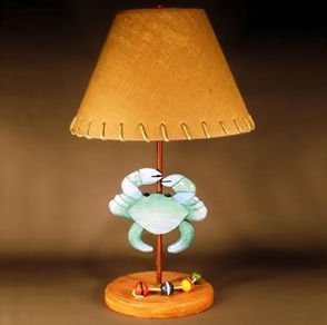 Judith Edwards Designs 1723 Blue Crab Lamp