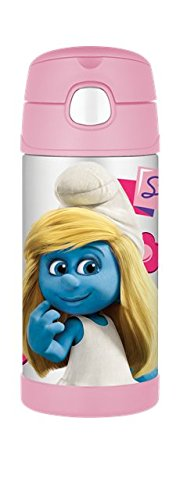 Thermos Smurf Movie Funtainer Beverage Bottle, 12-Ounce, Pink
