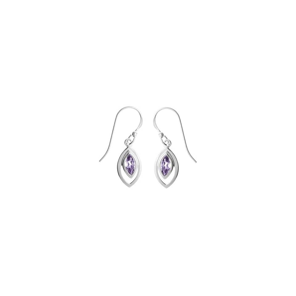 Amethyst Tear Drop Sterling Silver Earrings By Boma Sv501 am