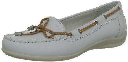Geox D YUKI A D3255A00043C1000, Scarpe da barca donna, Bianco (Weiß (WHITE C1000)), 39
