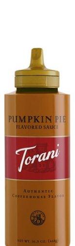 Torani Pumpkin Pie Sauce, 16.5 Oz Squeeze Bottle front-933647
