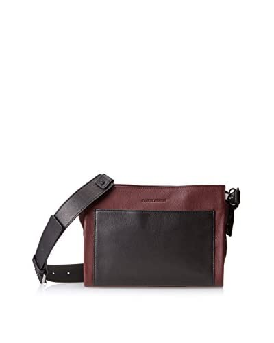 Charles Jourdan Women's Frasier Messenger, Wine/Black