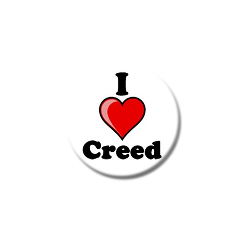 """Set di tre I Love Creed-Magneti per frigorifero, misure: 25 mm & 38 mm, Con stampa design, 38mm (1œ"""")"""