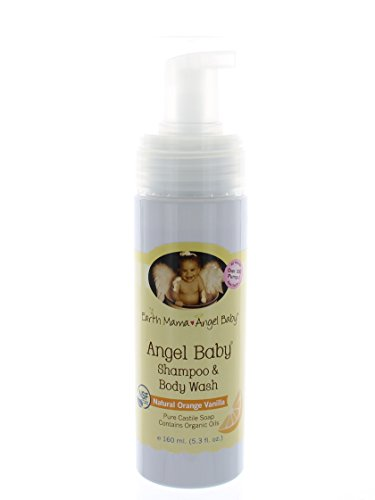 Earth Mama Angel Baby - Shampoo & Body Wash Refill Size 5.3 fl oz (160 ml) (Pack of 2)