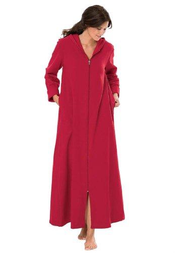 Джессика Лондоне женщины's Plus Size балахоне, с капюшоном, в длинных, ультра-мягкой шерсти, сны & Co. Классический Красный,М