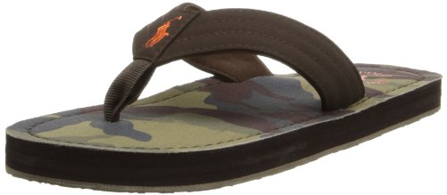 Polo Ralph Lauren Kids Theo Fashion Flip Flop (Little Kid/Toddler), Chocolate, 9 M Us Toddler