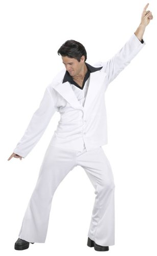 Saturday Night Fever Disco Costume (Size: Standard 42-46) front-948452