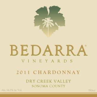 2011 Bedarra Vineyards Chardonnay, Dry Creek Valley 750 Ml