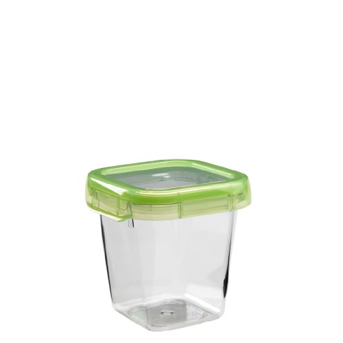 OXO Good Grips LockTop 20-1/5-Ounce Square Container with Green Lid (Leak Proof Soup Containers compare prices)