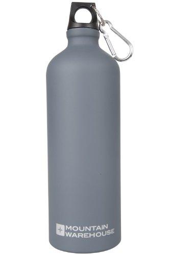 Mountain-Warehouse-1-l-Flasche-mit-matter-Oberflche-und-Karabiner-Kohle