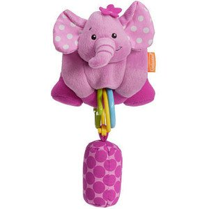 Infantino Wrap Around Chiming Pal - Pink Elephant