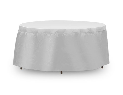 Protective Covers Weatherproof Table Cover, 48 Inch x 54, Inch Round Table, Gray image