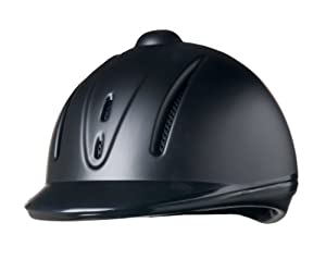 Devon-Aire Adult Equestrian Riding Helmet, Small/Medium, Black Matte