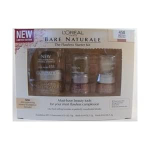 L'Oreal Bare Naturale, The Flawless Starter Kit, 458 Light Ivory