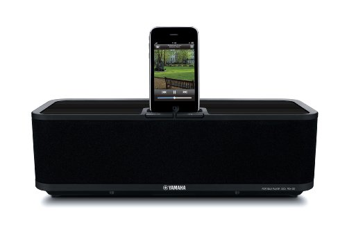 Yamaha PDX30BL Speaker Dock for iPod and iPhone, 1 Each (Black)