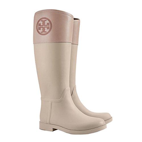 Tory Burch Womens Classic T Logo Rain Boots in Rock