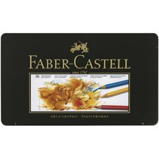 Faber-Castell POLYCHROMOS Artist Color Pencils Color Pencil Tin - 36 count 110036 Metal Tin of 36