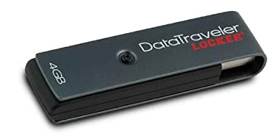 Kingston DataTraveller Locker with 256-bit encryption and 4GB USB 2.0 Drive by KIngston