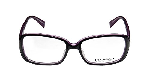 Koali 6966k Womens/Ladies Rx-able High-end Designer Full-rim Eyeglasses/Spectacles (53-16-135, Black / Purple) (Window Tint Scratch Remover compare prices)