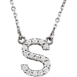K Letter In Diamond Ring Amazon.com: 14k White Gold Diamond Alphabet Letter S Necklace (1/6 ...