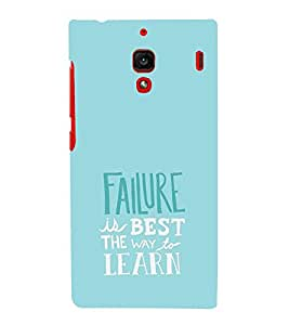 EPICCASE Failure is the best way to learn Mobile Back Case Cover For Xiaomi RedMi 1S (Designer Case)