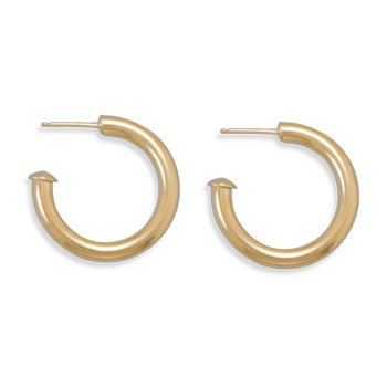 14/20 Gold Filled 3mm x 25mm 3/4 Hoops