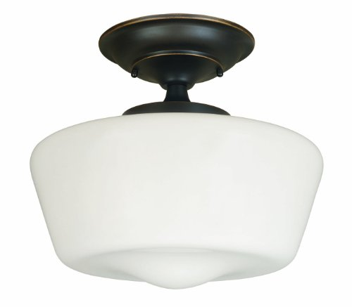 World Imports Lighting 9007-88 Luray 1-Light Semi-Flush Light Fixture, Oil Rubbed Bronze picture