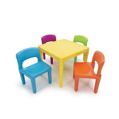 Tot Tutors Kids' Table and 4-Chair Set, Plastic