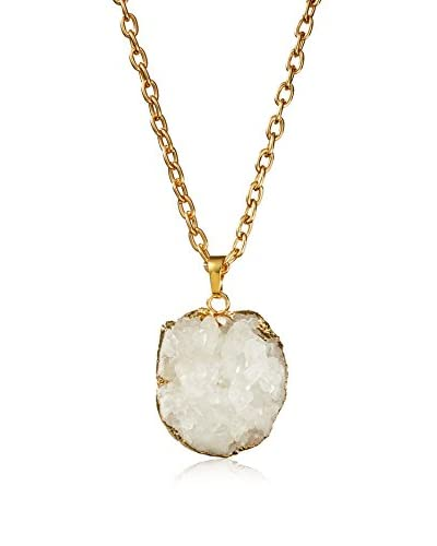 Jules Smith White Crystal Necklace